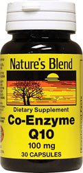 Nature's Blend Coenzyme Q10 100 mg 30 Capsules