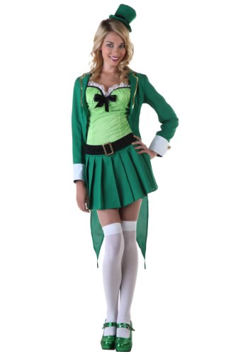 Womens Lucky Leprechaun Costume Large