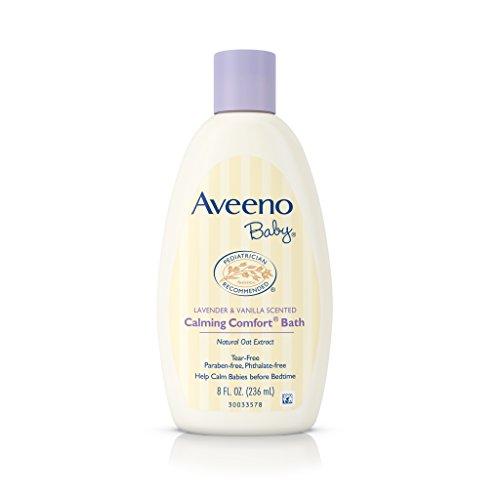Tears Lavender (Aveeno Baby Calming Comfort Bath with Lavender & Vanilla, Hypoallergenic & Tear-Free, 8 fl. ox)