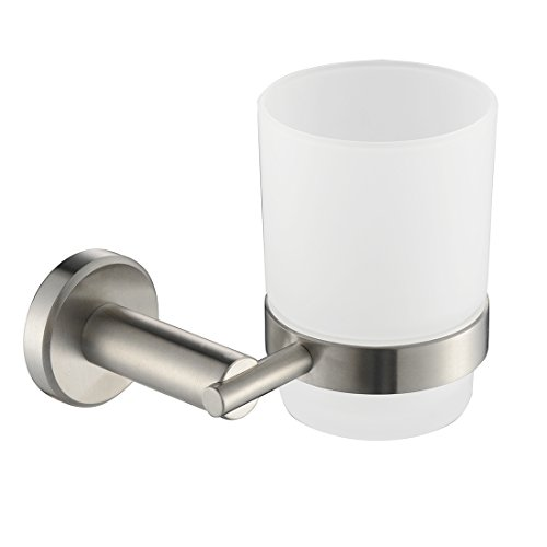 Wall Mount Mug : Yigii bathroom stainless steel toothbrush cup holder