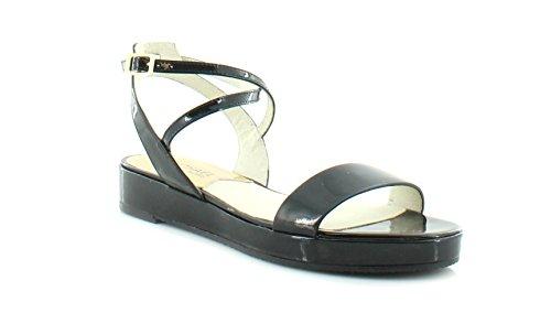 Womens Jocelyn Platform Sandal (MICHAEL Michael Kors Women's Jocelyn Flat Sandal Black Vachetta Sandal)