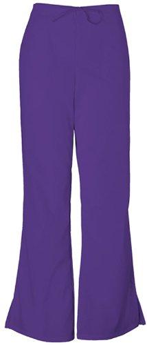 Cherokee Workwear Scrubs 4101 Low Rise Flare Leg Scrub Pant (Grape, XXS)