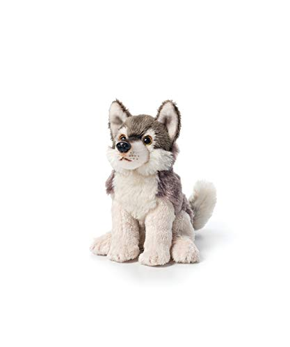 - DEMDACO Little Silver Grey Wolf Children's Plush Beanbag Stuffed Animal Toy