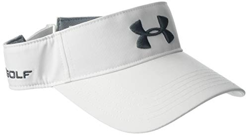 Under Armour Core Golf Visor, White//Pitch Gray, One Size Fits All