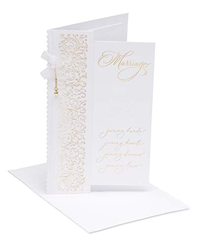 American Greetings Joy Wedding Congratulations Greeting Card with Ribbon and Foil
