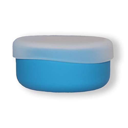 modern-twist 100% plastic free silicone waterproof, adjustable, dishwasher safe, Snack Set, Blue
