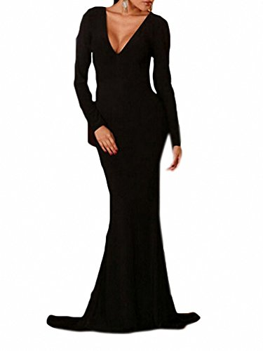 black dress with cutout sleeves - 4