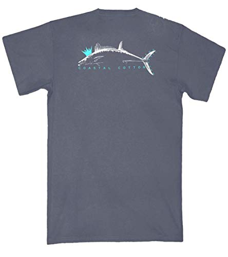Coastal Cotton Clothing King Mackerel Short Sleeve Pocket T-Shirt-Pepper-Medium