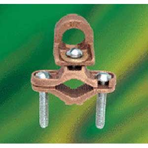 (NSI EG-5 Bronze Waterpipe Ground Clamp With Adapter 1/2 - 1 Inch 6 AWG stranded)