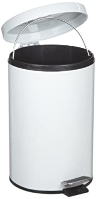 Rubbermaid Commercial FGMST15EPLWH Medi-Can, Round, Steel, 1.5gal, White.