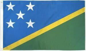 - LuxMart 3x5 Solomon Islands Nylon/Poly Blend Flag 3'x5' House Banner Brass Grommets