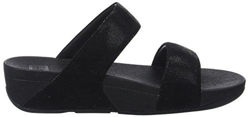 Shimmy Suede Slide Sandal Black Women's fitflop C5FfwOqS