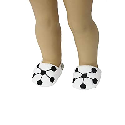 Soccer Ball Slippers |Fits 18
