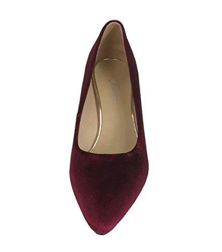 Sadie On Mid Slip Collection Pumps Shoes Burgundy Forever To Heel Low Womens wqZzW4