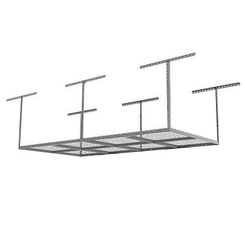 FLEXIMOUNTS GR48S 4x8 Overhead Garage Adjustable Storage Rack Heavy Duty, 96