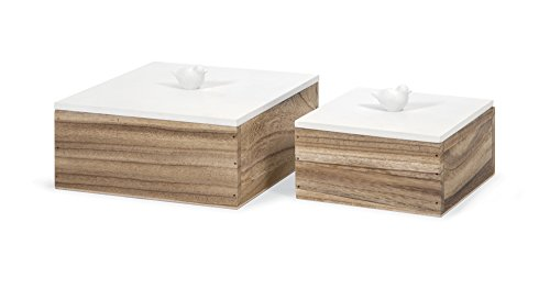 Imax Lidded Box - Imax 97400-2 Mochrie Lidded Boxes, Set of 2