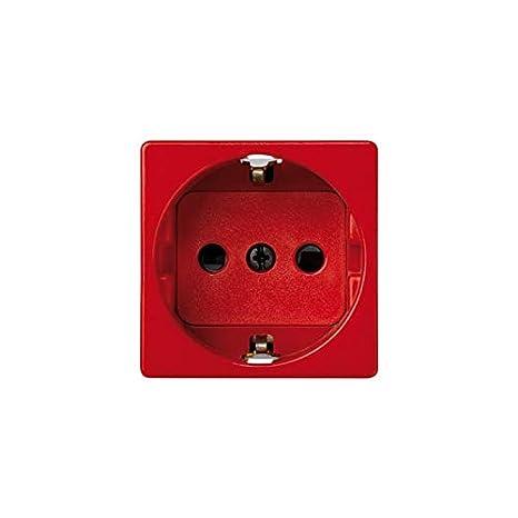 Simon - 27432-68 base enchufe 2p+tt schuko s-27 rojo Ref. 6552765059: Amazon.es: Bricolaje y herramientas