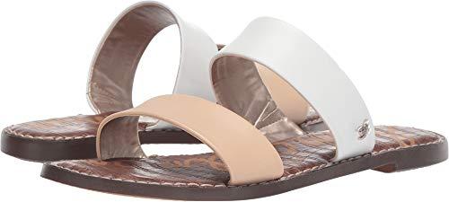 (Sam Edelman Women's Gala Slide Sandal, Bright White/Natural Naked Leather, 10 M US)