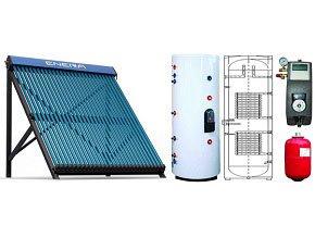 Calentador de agua solar para calefaccion