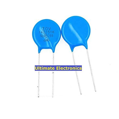 WuLian 50pcs Varistors 14D151K 150V Metal Voltage Dependent Resistor