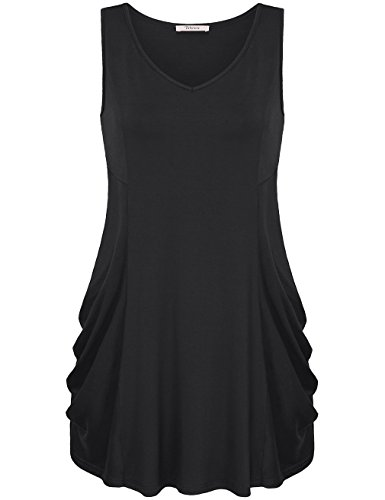 Bebonnie Womens Sleeveless Ruched Comfy product image