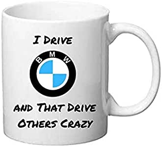 أنا أقود بي إم دبليو والتي تدفع الآخرين مجنون ، شعار سيارة الأبيض القدحالأبيض