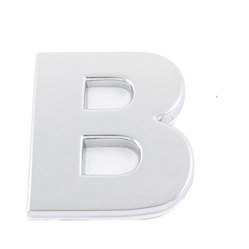 Auto 3D Emblem Badge Decal Letter Chrome Symbol B - 3d Chrome Letters