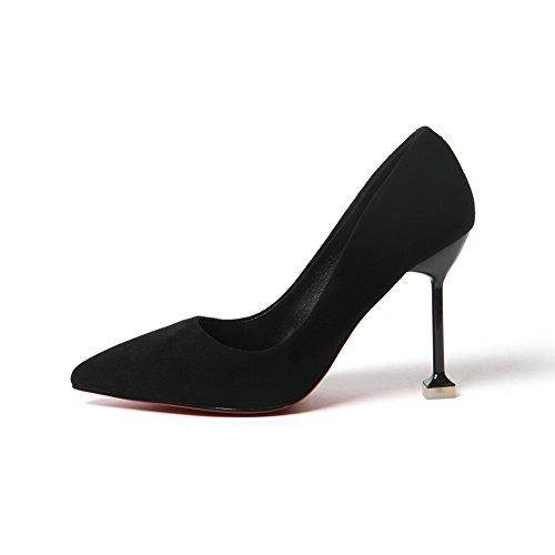 1to9mmsg00017 - Sandalias Con Cuña Para Mujer, Negras (negro), 35