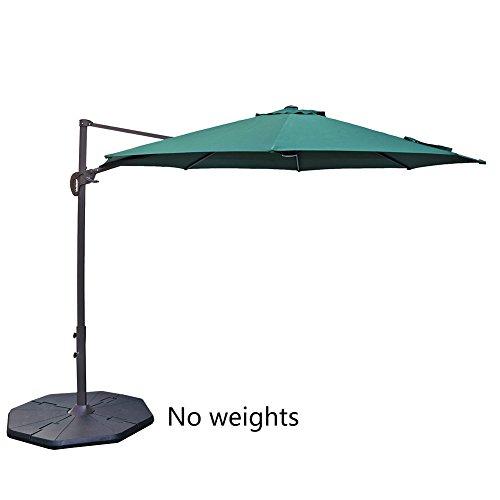 Aluminum Oval Shade Patio Umbrella - 2