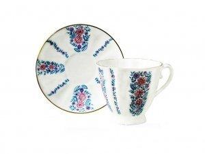 Lomonosov Porcelain Bone China Coffee/Tea Set 6.8 oz/200 ml Daisies 2pc
