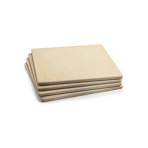 Outset 76176 Pizza Grill Stone Tiles, Set of 4 (Renewed)