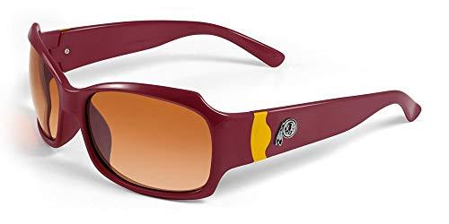 (NFL Washington Redskins Bombshell Sunglasses with Bag, Red/Yellow)