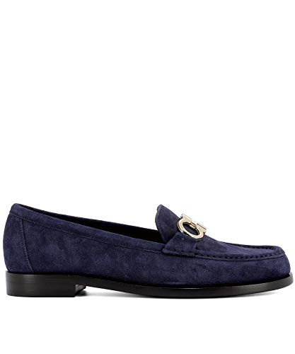 Loafers Salvatore Women's Suede 0699304 Blue Ferragamo qXq60