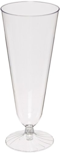 Comet 2-Piece Plastic Beer Pilsner Glass, 12-Ounce, Clear (250-Count) by WNA