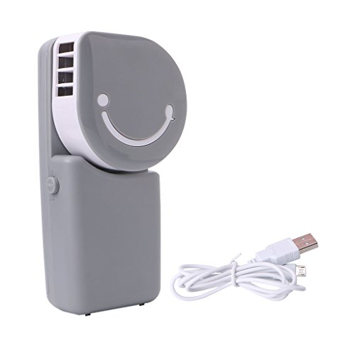 NNDA CO 1 pc Portable USB Rechargeable Hand Held Air Conditioner Cooling Summer Cooler Fan for Home Office and Travel(ABS + electronic components) (grey) by NNDA CO