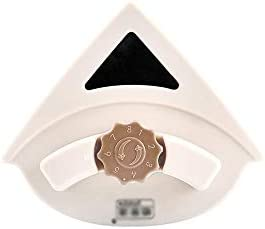 QIANZICAI ガラス洗浄装置、調節可能な磁性ガラス洗浄装置、シングルとダブルの中空ガラスクリーニングツール、スタイリッシュなデザインスタイル、5〜25ミリメートル厚さ(ベージュ) 安全ロープとの強力な磁場 (Color : Beige)