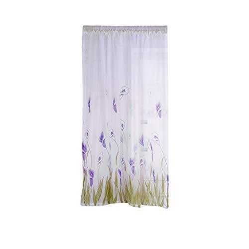 CCatyam Blackout Curtains, Window Curtain, Print Blocking Treatments Light Panels, Decor Bedroom Door Kitchen Living Room 1 x 1.6m