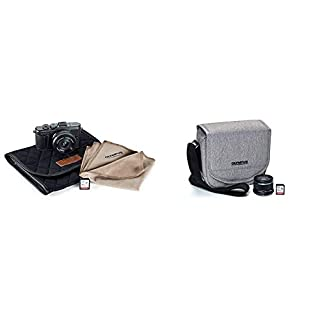 Olympus Pen E-PL10 Black Camera Body with Black M.Zuiko Digital 14-42mm F3.5-5.6 EZ Lens, Camera Case, Lens Cloth & SD Card with Step Up Kit
