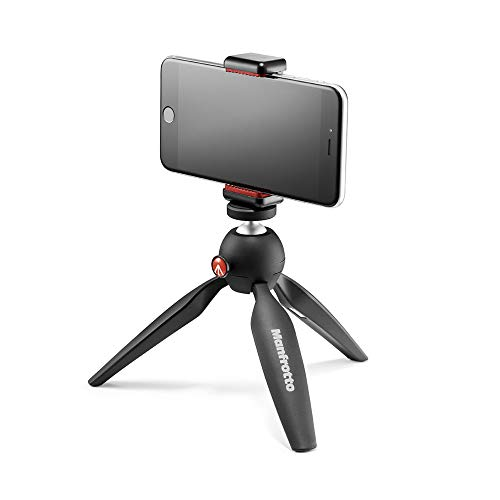 - Manfrotto PIXI Mini Tripod Kit with Universal Smartphone Clamp, Black (MKPIXICLAMP-BK)