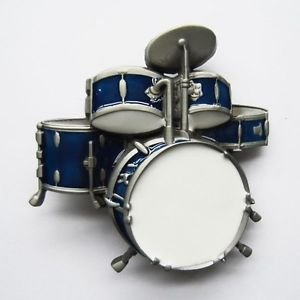 Price comparison product image Brand New Drum Set, Rock, Music, Band Blue Belt Buckle!