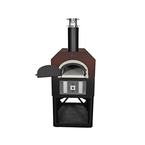 Chicago Brick Oven Propane Gas & Wood-Burning Commercial Outdoor Pizza Oven, CBO-750 Hybrid Stand with Copper Vein (Commercial Outdoor Brick)
