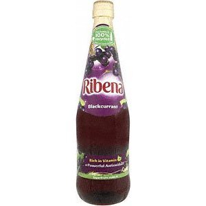 Ribena Blackcurrant Concentrate 1 Liter X 4-pack- Fast