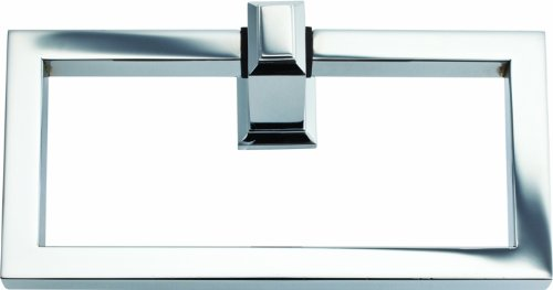 (Atlas Homewares SUTTR-CH Sutton Place Polished Chrome 6.63-Inch Towel Ring)