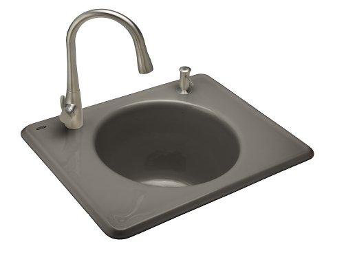 - Kohler K-6654-2-K4 Tandem Self-Rimming Cast Iron Utility Sink, Cashmere