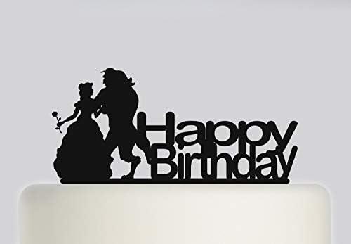 Decoración para tarta de cumpleaños - Bella y la Bestia ...