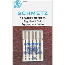Euro-Notions Sewing Bulk Buy (10-Pack) Leather Machine Needles Size 18/110 5 Pack 1786 by Euro-Notions Sewing
