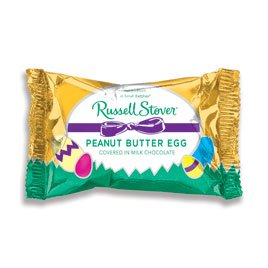 Russell Stover Milk Chocolate Peanut Butter Egg, 1 - Peanut White Butter Easter Chocolate