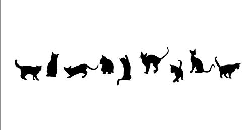 Ussore Cats Wall Stickers Art Decals Mural Wallpaper Decor DIY Decoration for Home living room bedroom bathroom kitchen by Usstore