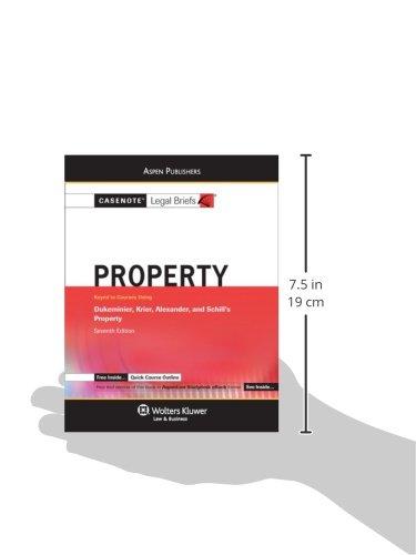 Casenotes Audio: Property: Dukeminier & Krier 7e (Casenote Legal Briefs)