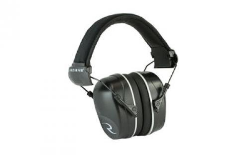 Radians Nrr 34 Folding Slim Cup Earmuff with Extra Plugs, Black by Radians (Image #1)